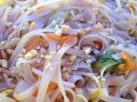 Extreme close-up of Vietnamese rice noodle salad