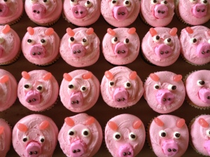 My kids went hog wild with cupcakes!