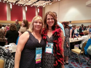 Barbara Samuel (O'Neal) is so lovely. I take every opportunity to tell her I love her books. She hugged me!