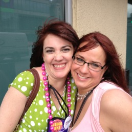 Avery Flynn and Seleste DeLaney/Julie Particka...in NOLA on a daiquiri run. Good times!