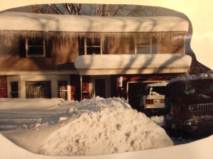 This is how much snow there was in Buffalo in 2001!