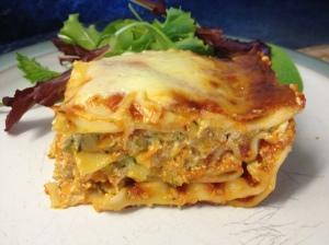 Ooey Gooey Cheesey Garden Lasagna